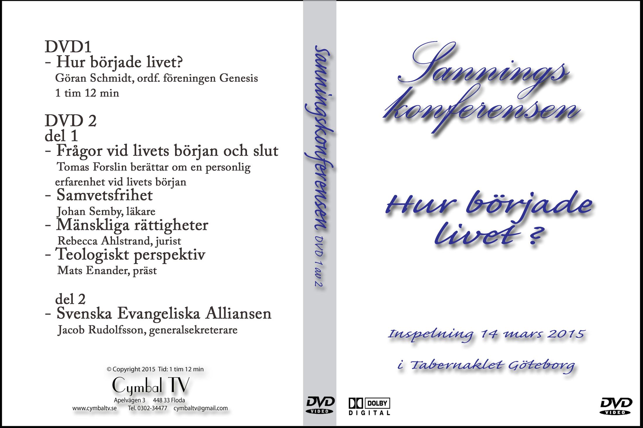 Sanningskonferensen 2015 DVD 1